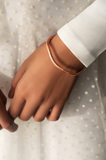 Jessica A Bangle in Rose Gold Plating