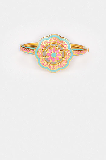 Genda Phool Bangle in Gold Plated Brass