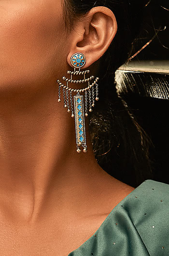 Antique Saras Sculpture Earrings