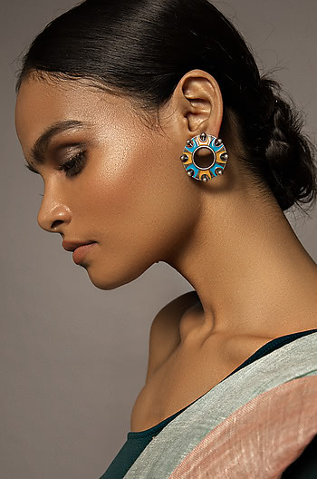 Antique Chakra Dome Earrings