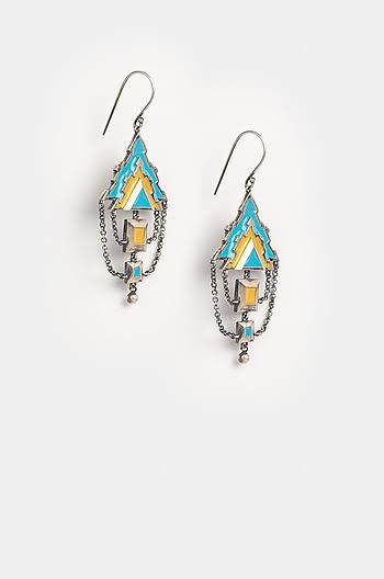 Antique Mukuta Sculpture Earrings