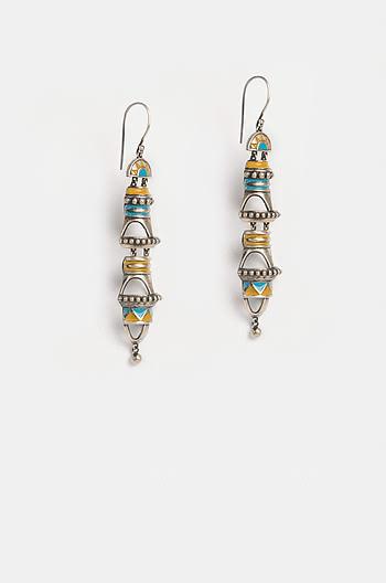 Antique Patra Pillar Earrings