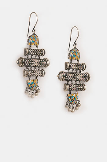 Antique Srasta Step Earrings