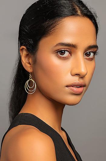In the Loop Earrings in Gold Plating