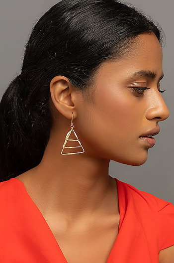 Chill Vibes Earrings in Gold Plating