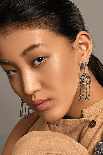 Antique Rudrama Shield Earrings