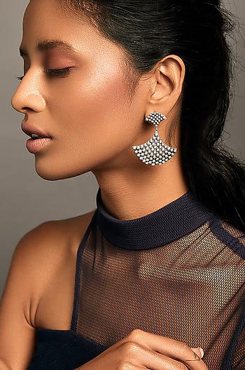 Antique Mallamma Shield Earrings