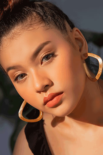 Jessica A Hoops in Rose Gold Plating