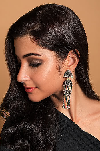 Gal on Fire Layered Jhumkis