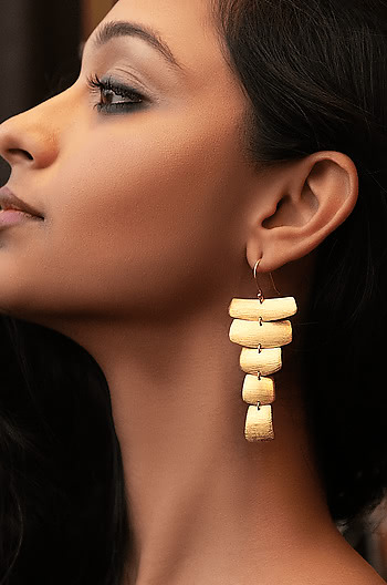 Dance All Night Earrings in Gold Plating