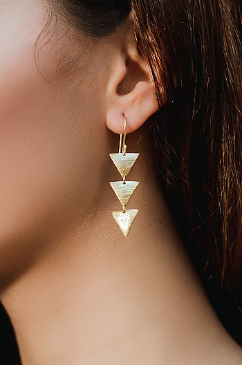 After Party Earrings in Gold Plating