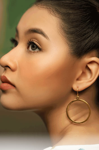 Selena G Mini Hoops in Gold Plating