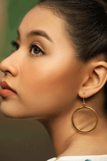 Selena G Mini Hoops in Gold Plating