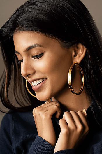 Taylor S Max Hoops in Gold Plating