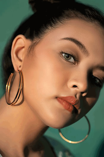 Sarah P Hoops in Gold Plating