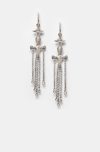 Antique Noor Sword Earrings