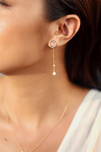 Friyay Vibes Earrings in Gold Plating