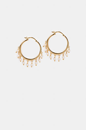 Lit All Day Earrings in Gold Plating