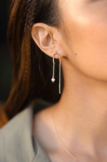 Slick Mode Earrings in Gold Plating