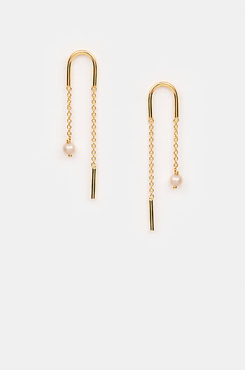 Slick Mode Earrings in Gold Plating