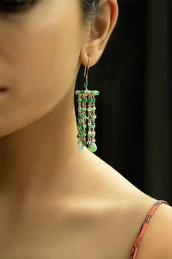 Mellow Earrings in Gold Plated 925 Silver