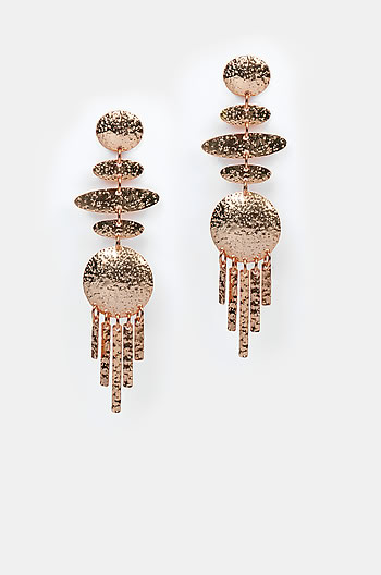 Right Round Earrings in Rose Gold Plating