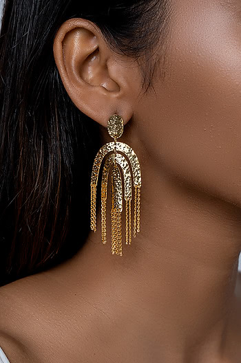 Chandelier Earrings in Gold Plating