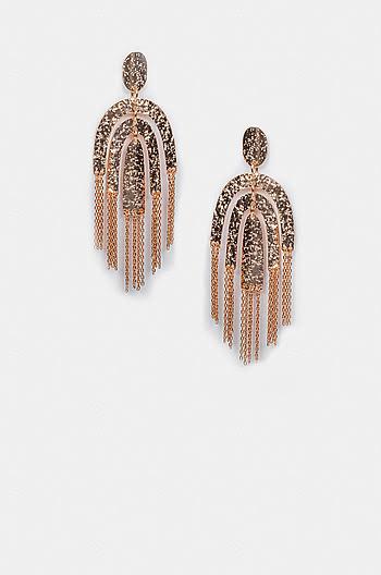 Chandelier Earrings in Rose Gold Plating