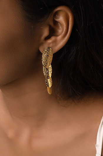 Slide Away Earrings in Gold Plating