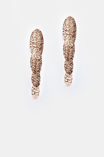 Slide Away Earrings in Rose Gold Plating