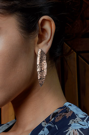 Moving On Earrings in Rose Gold Plating