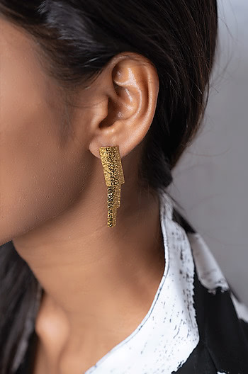 You and Me Earrings in Gold Plating