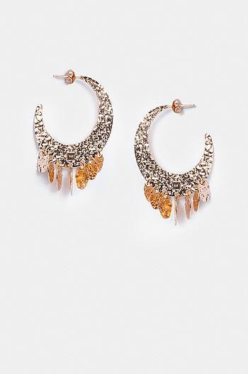 Cattitude Earrings in Rose Gold Plating