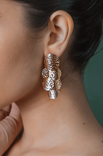 All the Stars Earrings in Rose Gold Plating