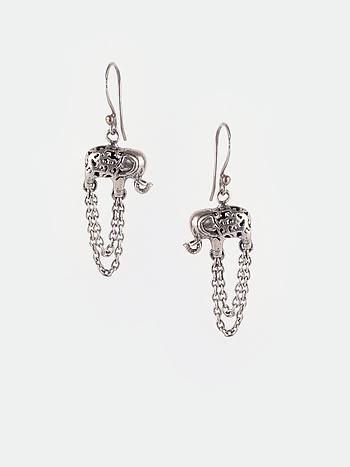 Antique March On Earrings in 925 Silver