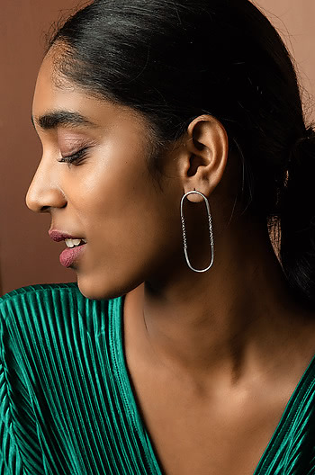 Days Like This Earrings in Rhodium Plating