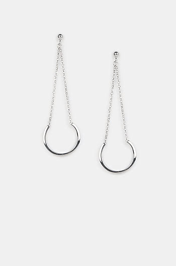 Lights Up Earrings in Rhodium Plating