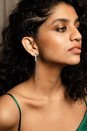 Party Rock Anthem Earrings in Rhodium Plating
