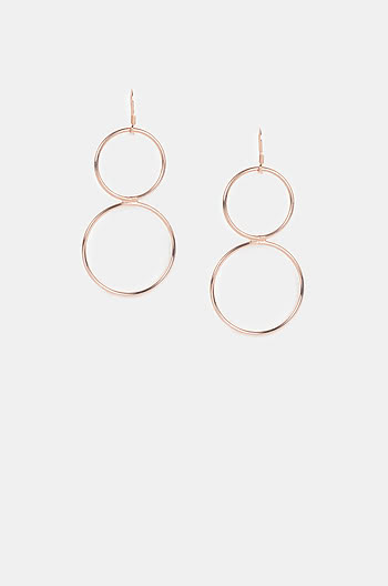 Tik Tok Earrings in Rose Gold Plating
