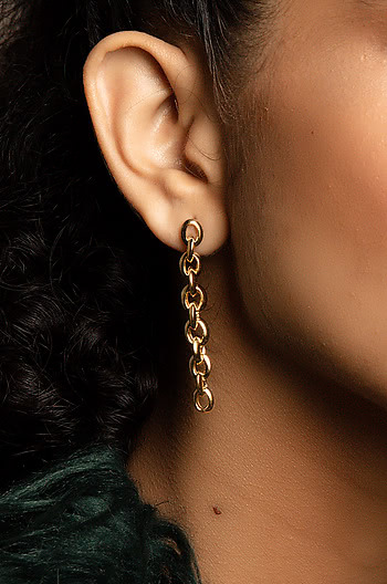 Super Bass Earrings in  Gold Plating