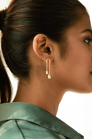 About Last Night Earrings in Gold Plating