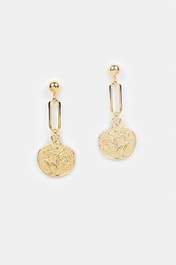Rolling In It Earrings in Gold Plating
