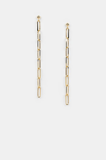 All Bets Off Earrings in Gold Plating