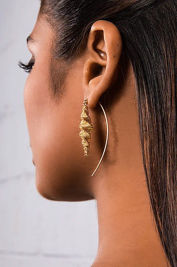 No Diggity Earrings in Gold Plating