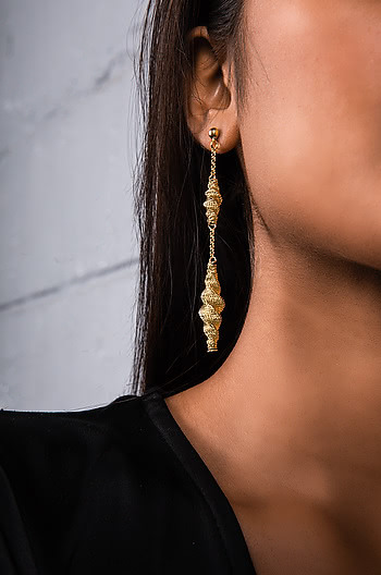 All Night Long Earrings in Gold Plating