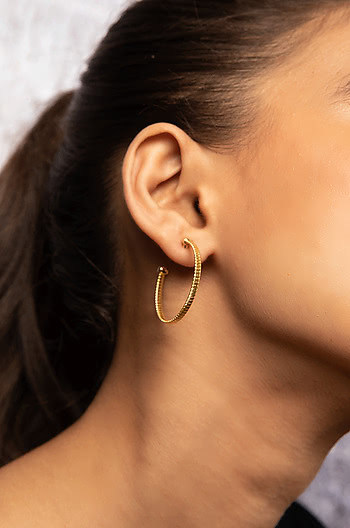 Low Key Cool Earrings in Gold Plating
