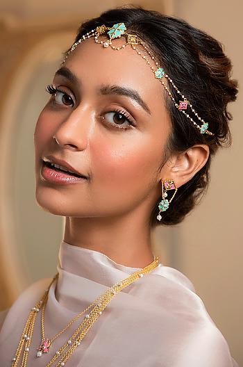 Baari Barsi Earrings in Gold Plated Brass