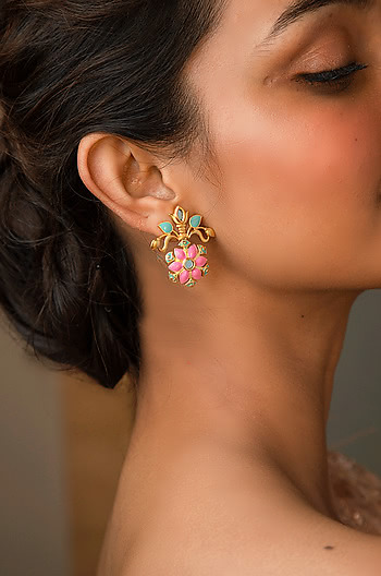 Gal Mithi Earrings in Gold Plated Brass