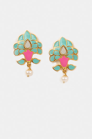 Sadi Gali Earrings in Gold Plated Brass