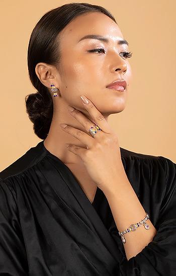 Dhol Motif Earrings